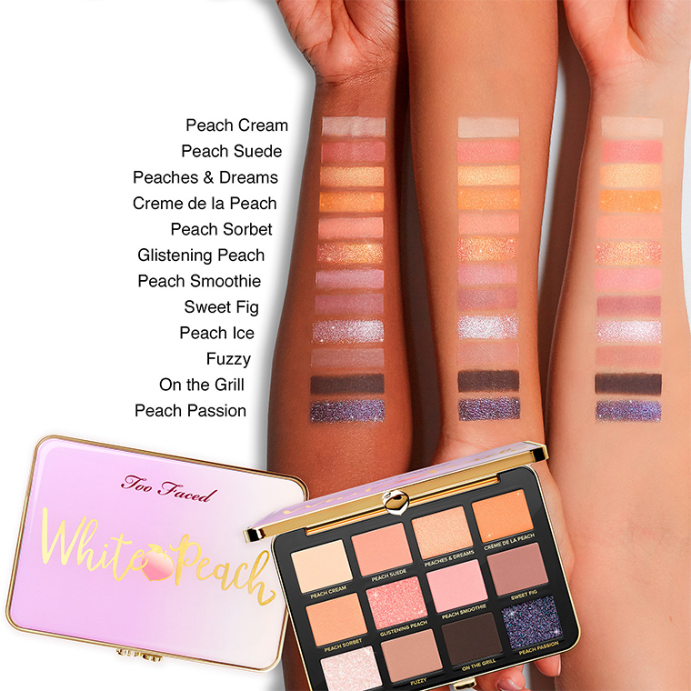 too faced white peach eye shadow palette now available. Black Bedroom Furniture Sets. Home Design Ideas