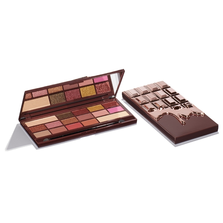 Makeup Revolution Rose Gold Chocolate Bar Eyeshadow Palette Review ...