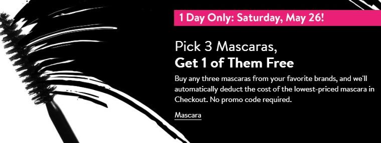 Nordstrom: Pick 3 Mascaras, Get 1 Free