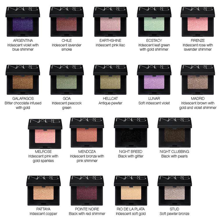 NARS Eyeshadows Relaunch