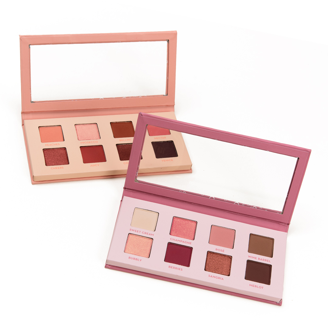 Makeup Geek Champagne & Rose and Peach Bellini Eyeshadow Palettes Swatches