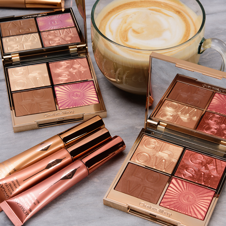Charlotte Tilbury Glowgasm Collection Swatches