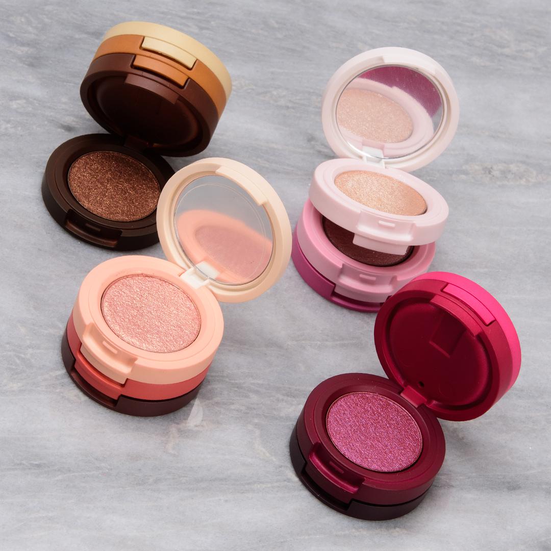 Kaja Beauty Bento Bouncy Shimmer Eyeshadow Trios | Swatches