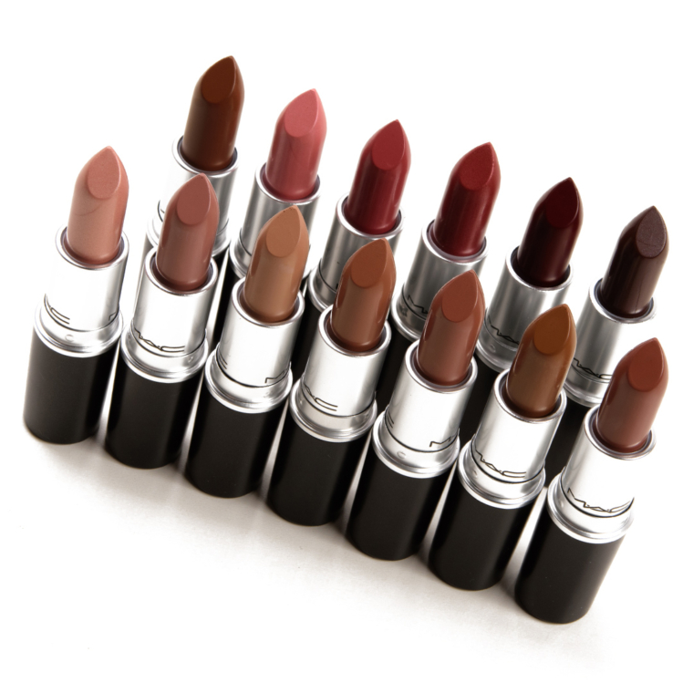 MAC Strip Down Lipsticks & Lipglasses Swatches (x18)