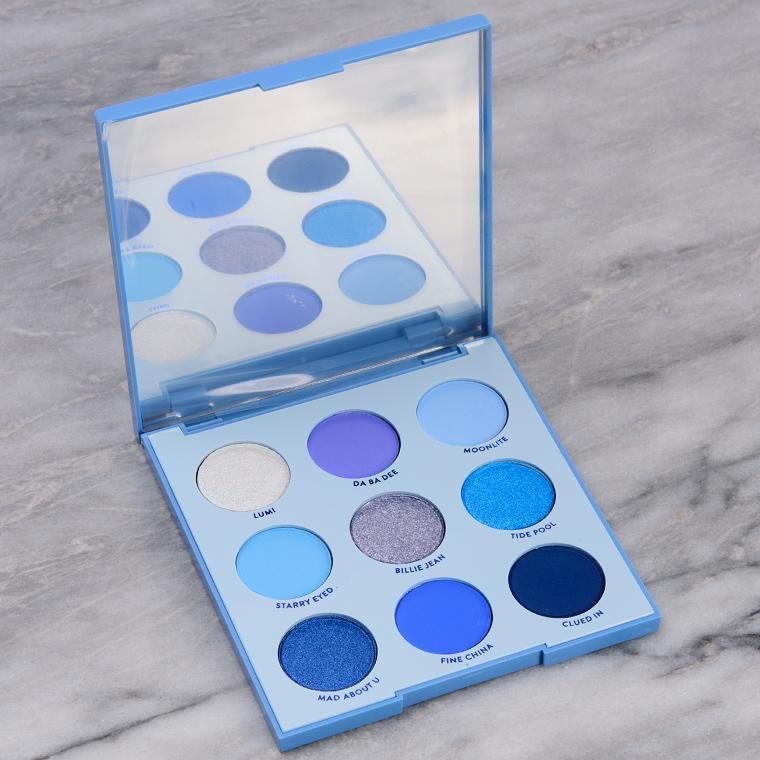 ColourPop Blue Moon Eyeshadow Palette Swatches