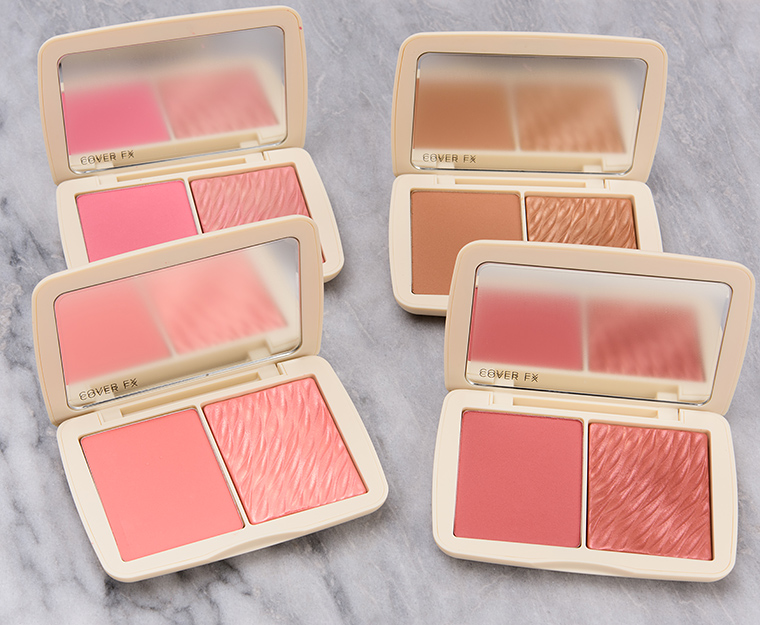 Cover FX Monochromatic Blush & Bronzer Duos Swatches