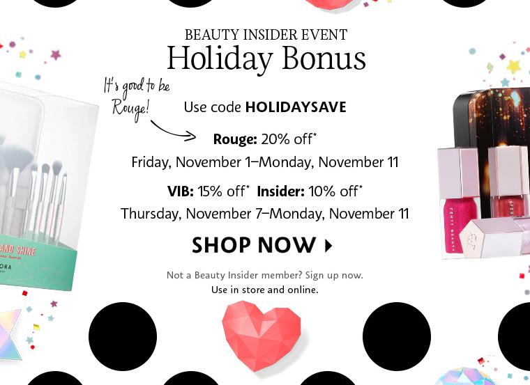 Sephora Holiday Bonus 2019