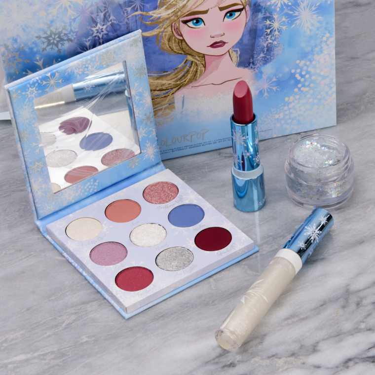 ColourPop x Disney Frozen II: Elsa Collection - Swatches