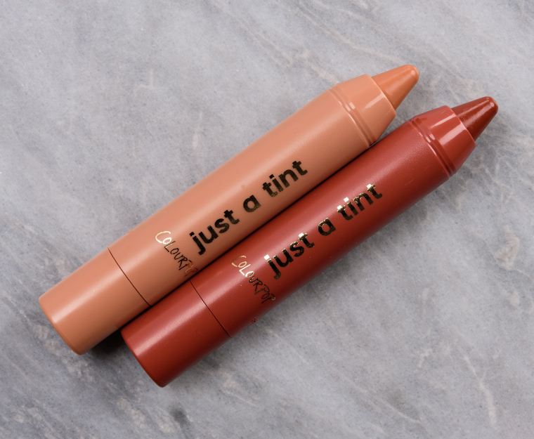 ColourPop Shell We Dance Just a Tint Lippie Tint Duo Review & Swatches