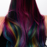 Oil Slick Rainbow Hair for the Holidays