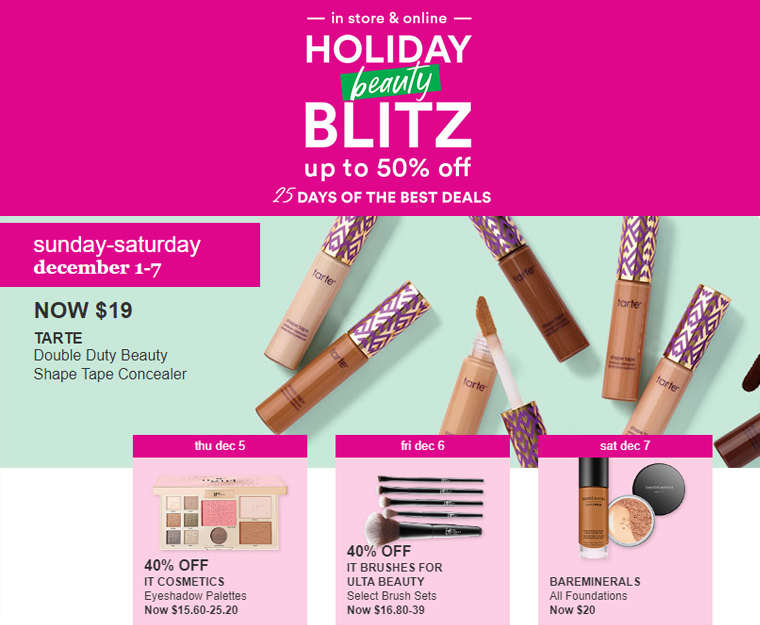 Ulta Holiday Beauty Blitz 2019