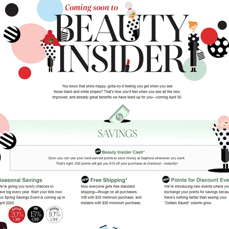 Sephora Beauty Insider | Reward Program Changes for April 2020