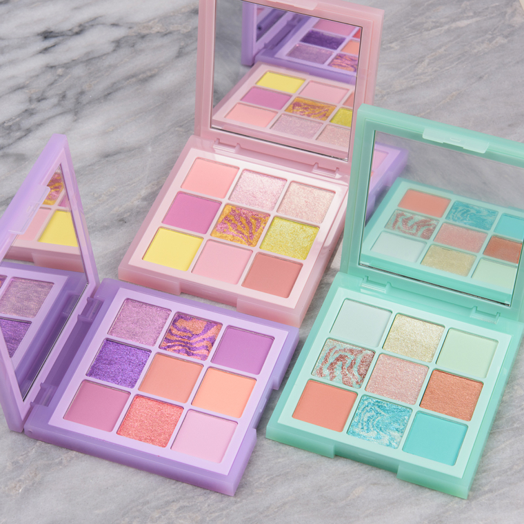 Huda Beauty Pastel Obsessions Palettes Swatches