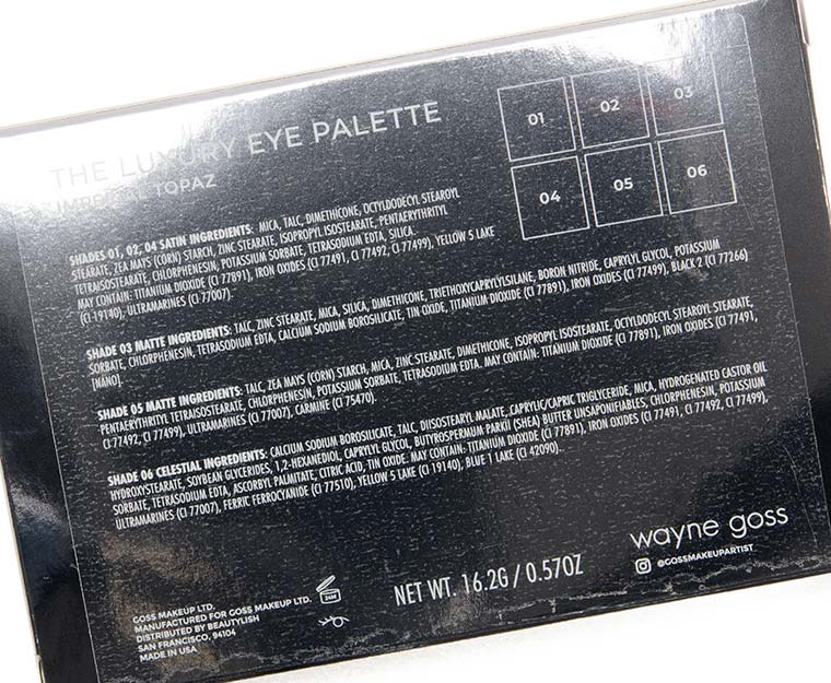 Wayne Goss Imperial Topaz Eyeshadow Palette Review & Swatches 2