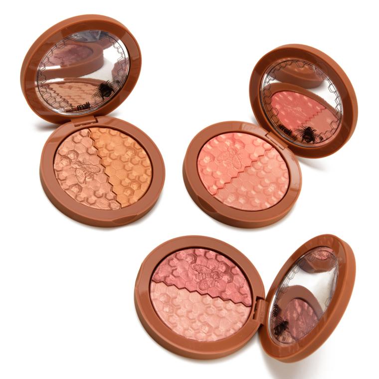 Fall 2020 Swatches: Melt Cosmetics Blush Duos (x3), Too Faced Pumpkin Spice Palette, Giorgio Armani Lip Maestros (x2)