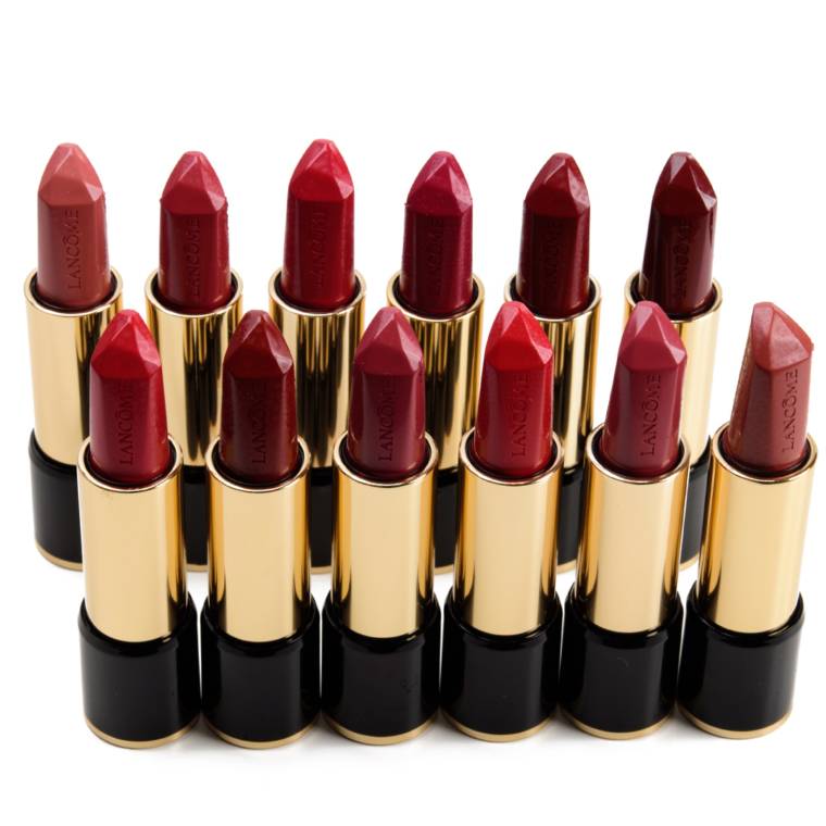 Lancome L'Absolu Rouge Ruby Cream Lipstick Swatches (x12)
