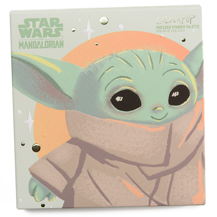ColourPop x Baby Yoda The color fields of the children's palette