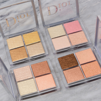 Dior Backstage Face Glow Palettes Swatches (x4)