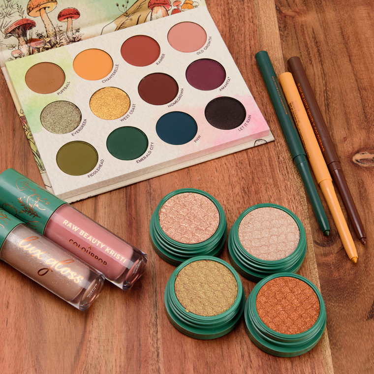 ColourPop x Raw Beauty Kristi Collection Swatches