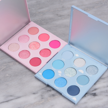 ColourPop Cloud Spun & On Cloud Blue Palette Swatches