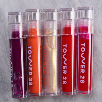 Tower 28 ShineOn Jelly Lip Gloss Swatches (x9)