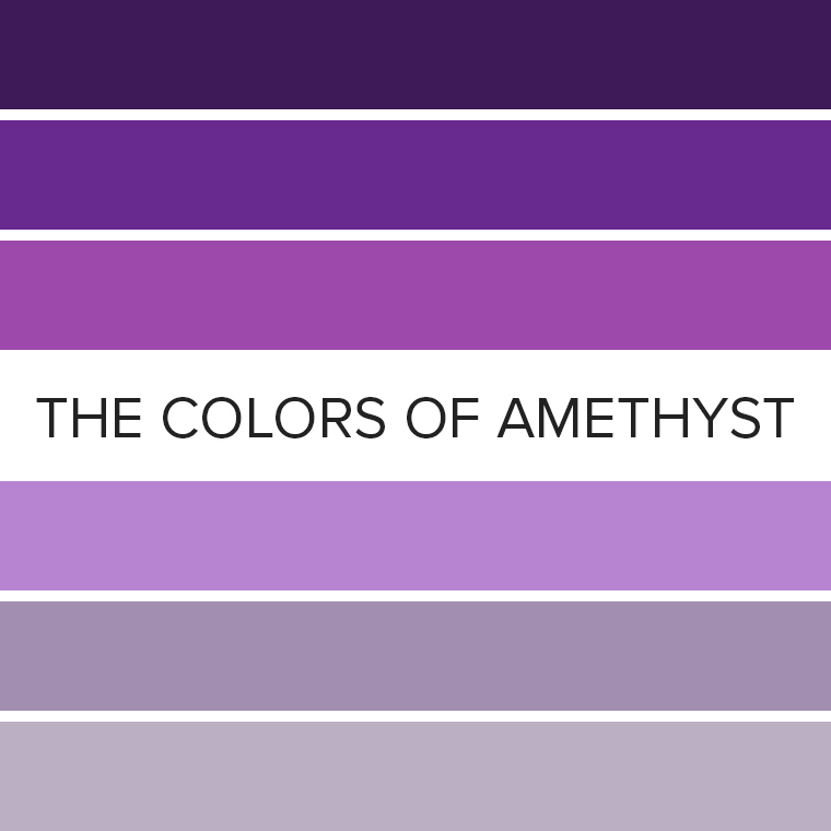 The Colors of Amethyst: 10 Eyeshadow Color Combos for February