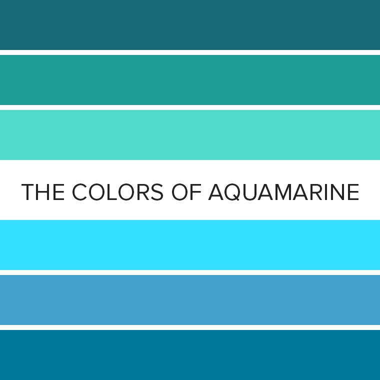 The Colors of Aquamarine: 12 Eyeshadow Color Combos for March