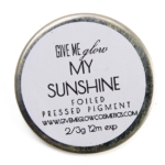 Give Me Glow My Sunshine Foiled Pressed Shadow