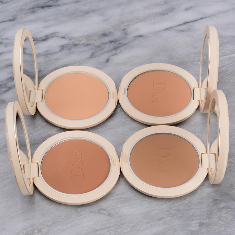 Dior Summer 2021 Swatches: Natural Bronzers + Eyeshadow Palettes
