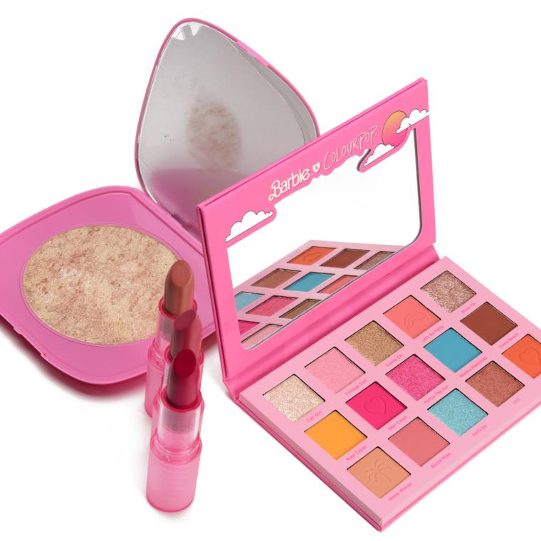 ColourPop x Malibu Barbie Collection Swatches