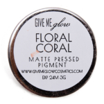 Give Me Glow Floral Coral Matte Pressed Pigment