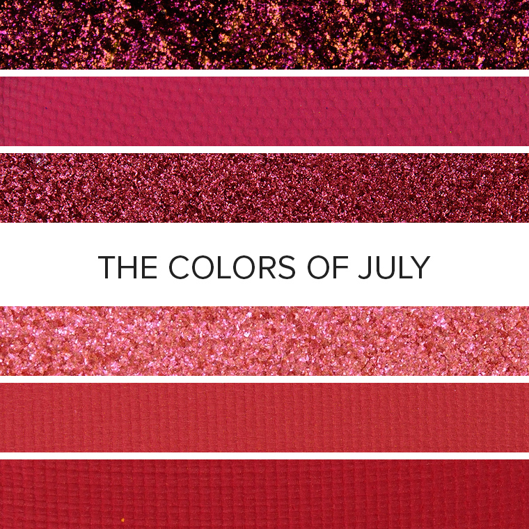 The Colors of Rubies: 20 Eyeshadow Color Combos for July