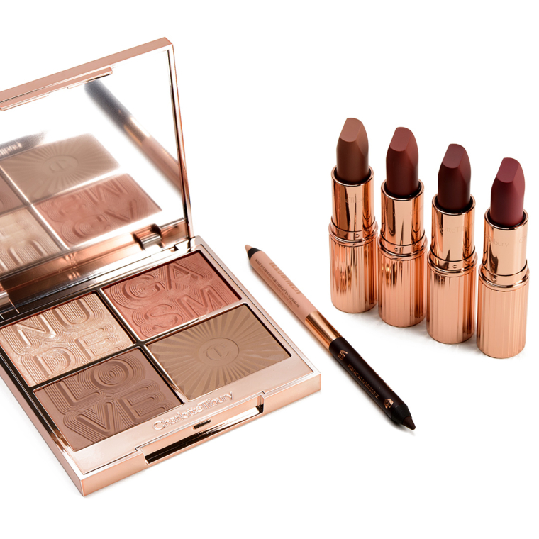 Charlotte Tilbury Nudegasm Collection Swatches