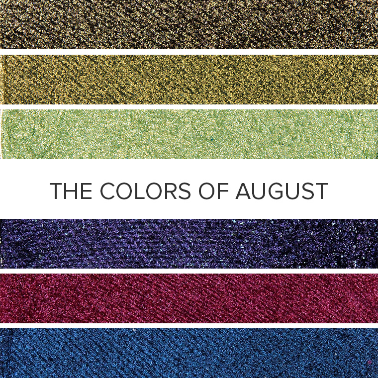 The Colors of Peridot & Spinel: 20 Eyeshadow Color Combos for August