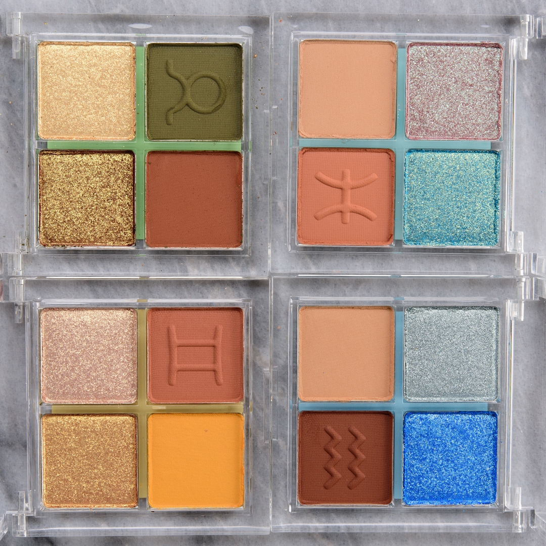Online Shop Trend Now colourpop_astrology_003_group ColourPop Astrology Eyeshadow Quad Swatches (x12)