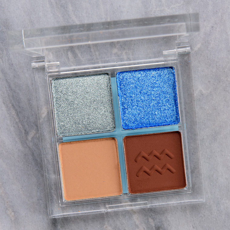 ColourPop Crystal Clear Aquarius Eyeshadow Quad Review & Swatches
