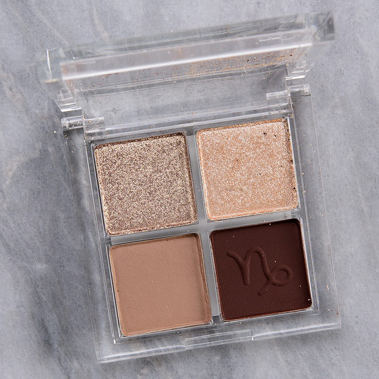 ColourPop Head Capricorn in Charge Eyeshadow Quad Review & Swatches