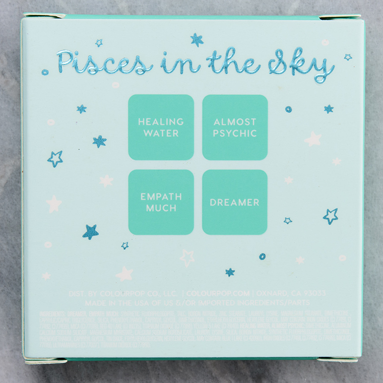 Online Shop Trend Now colourpop_pisces-in-the-sky_007_ingredients ColourPop Pisces in the Sky Eyeshadow Quad Review & Swatches