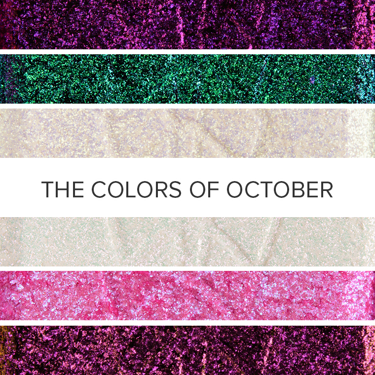 The Colors of Opals + Tourmalines: 10 Eyeshadow Color Combos for October