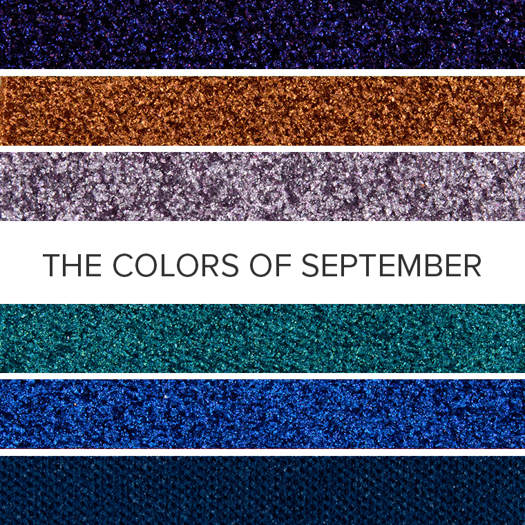 The Colors of Sapphire: 20 Eyeshadow Color Combos for September